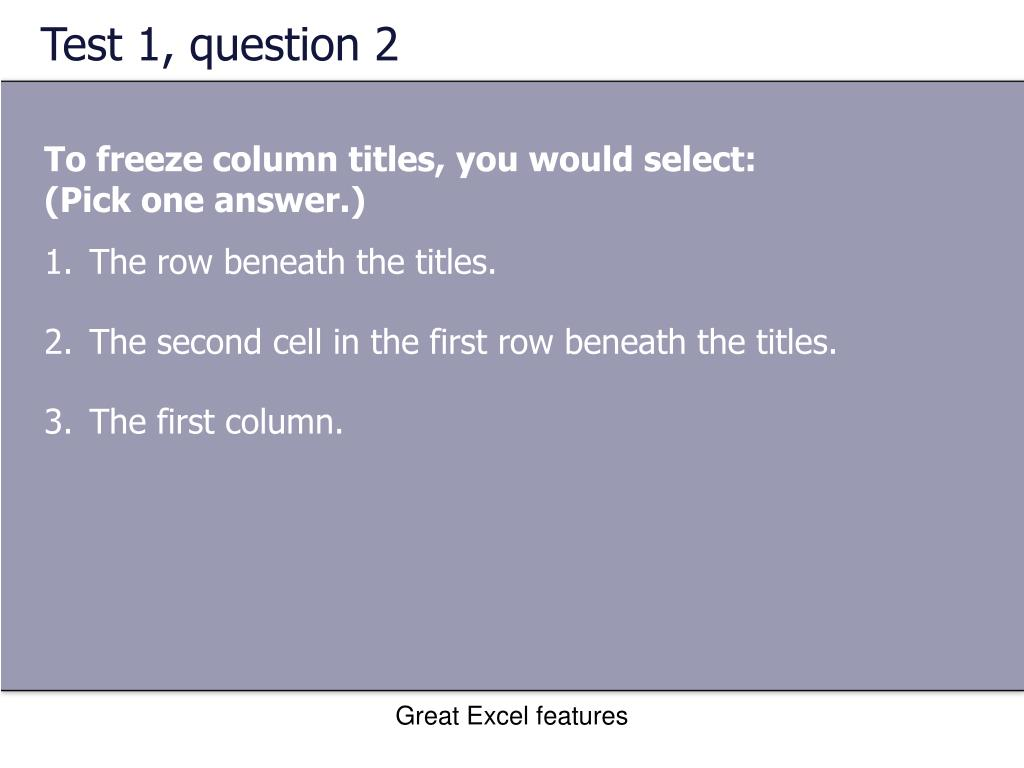 Test 1, question 2