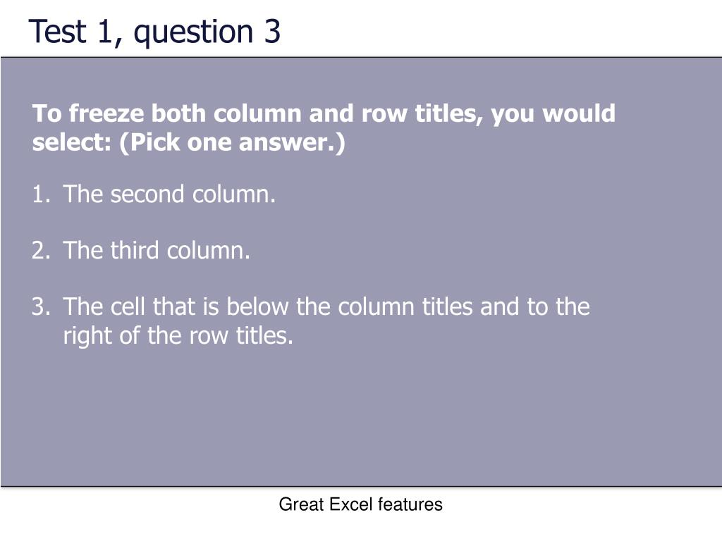 Test 1, question 3