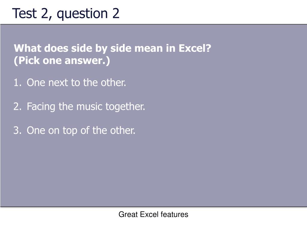 Test 2, question 2
