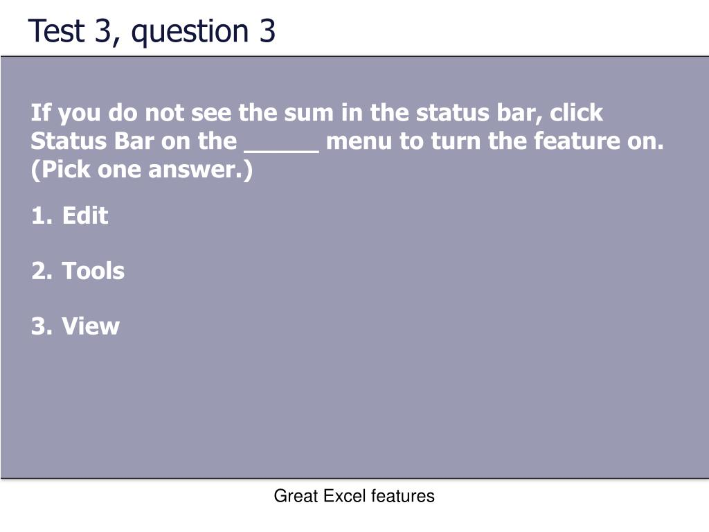 Test 3, question 3