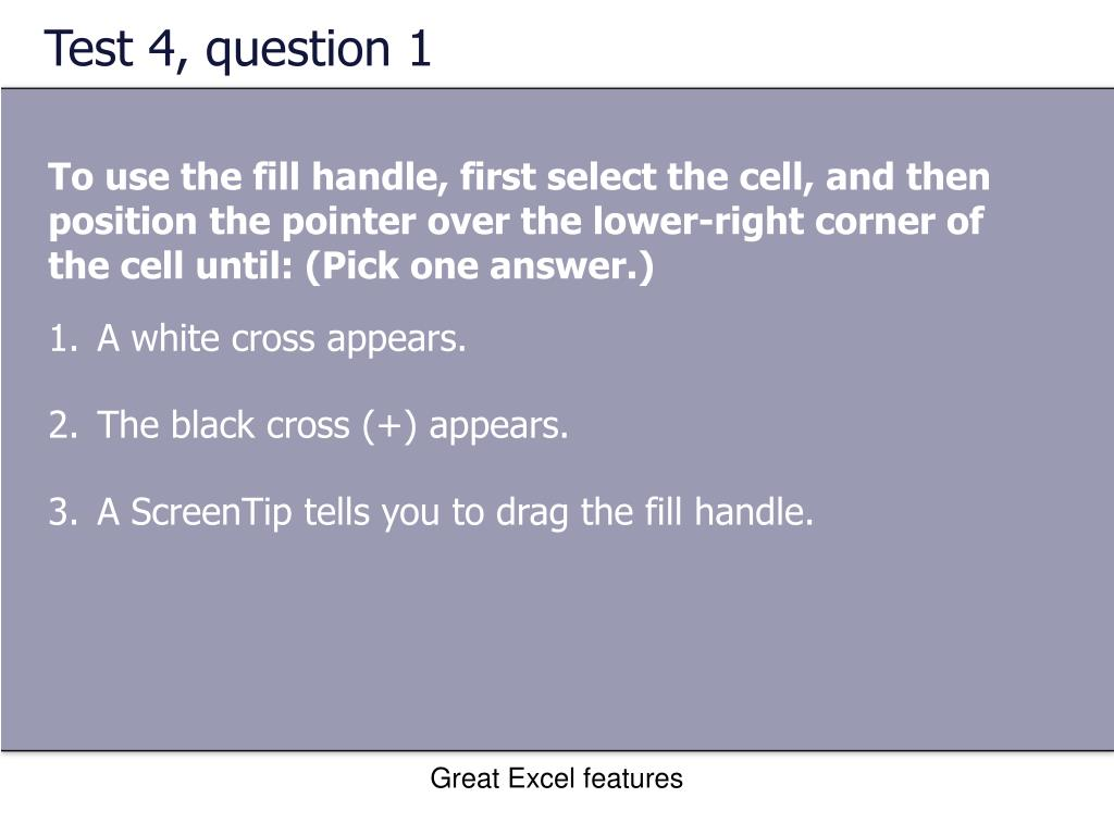 Test 4, question 1