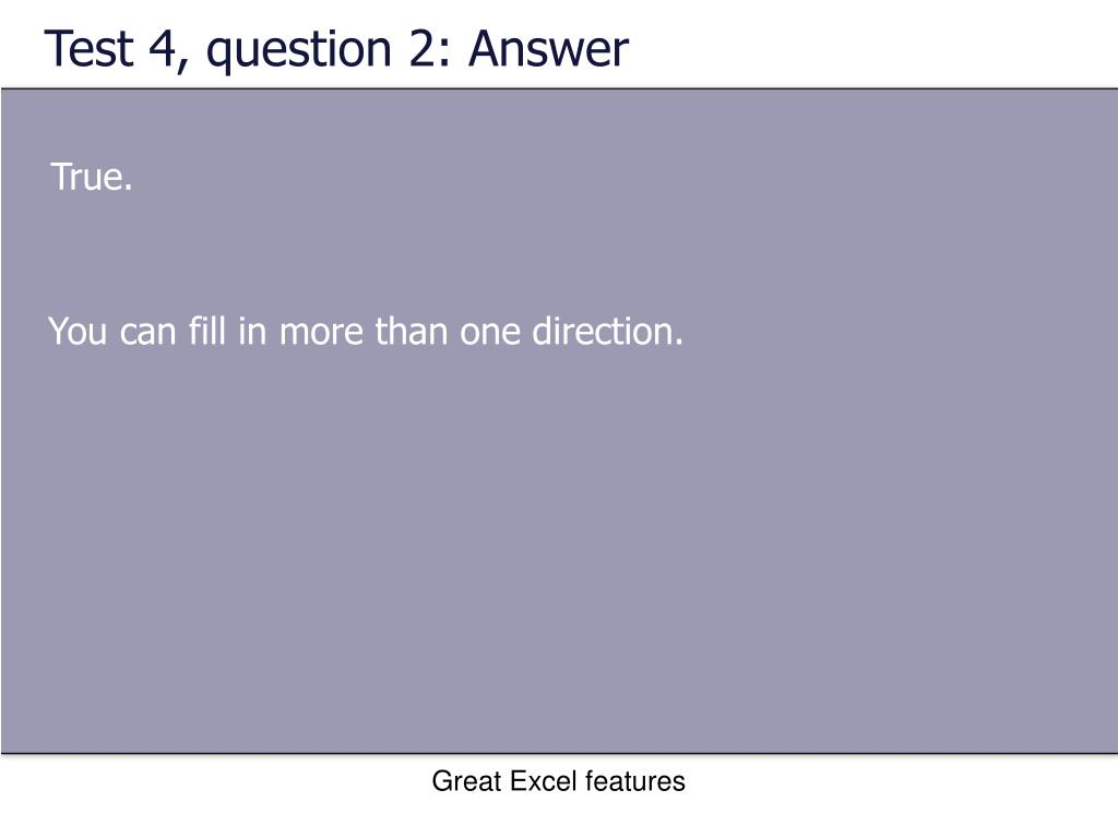 Test 4, question 2: Answer