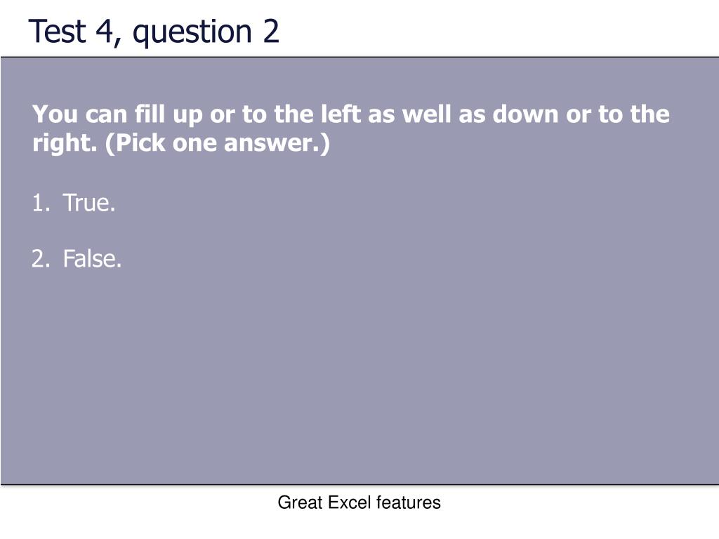 Test 4, question 2