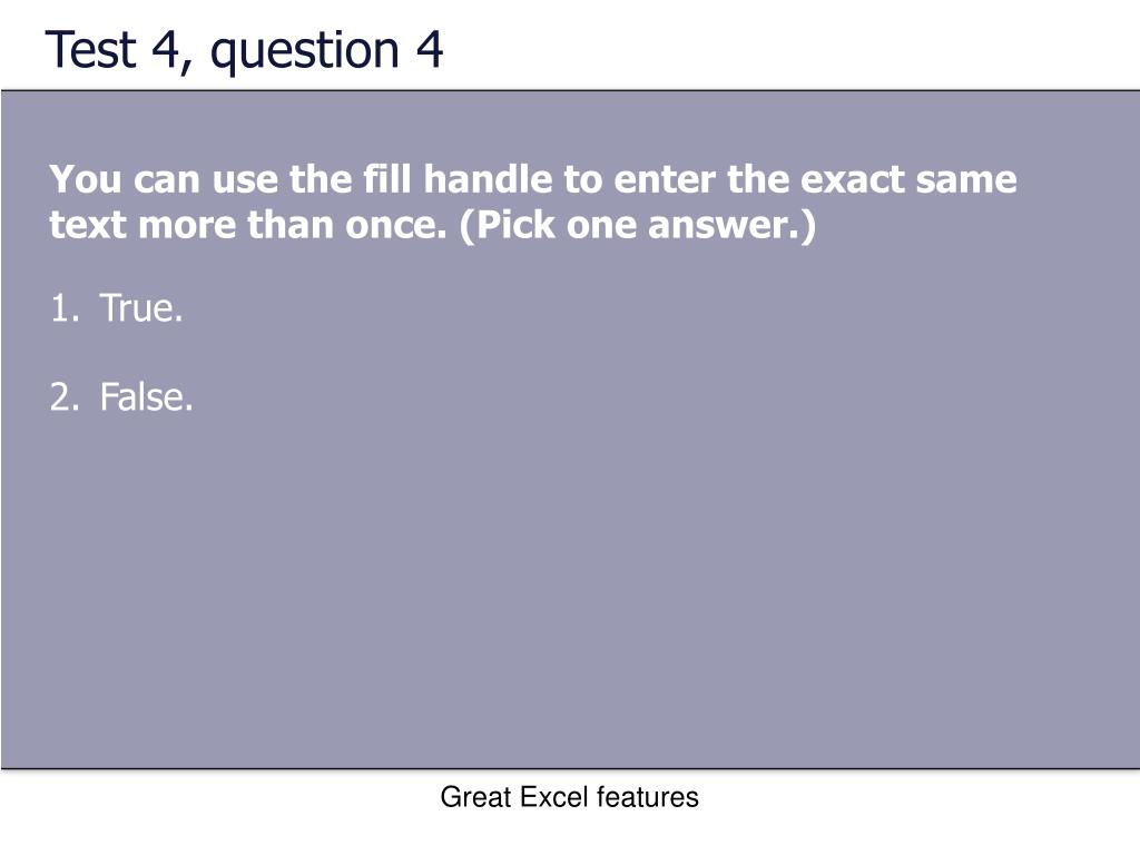 Test 4, question 4