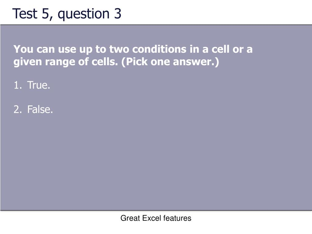 Test 5, question 3