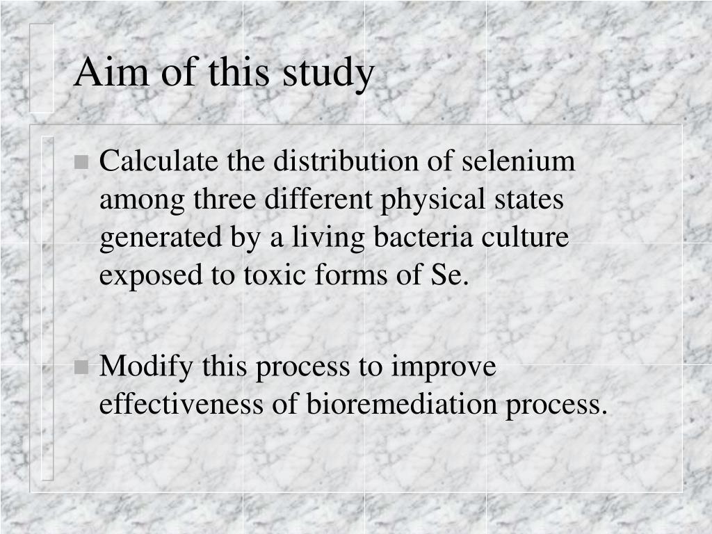 Aim of this study