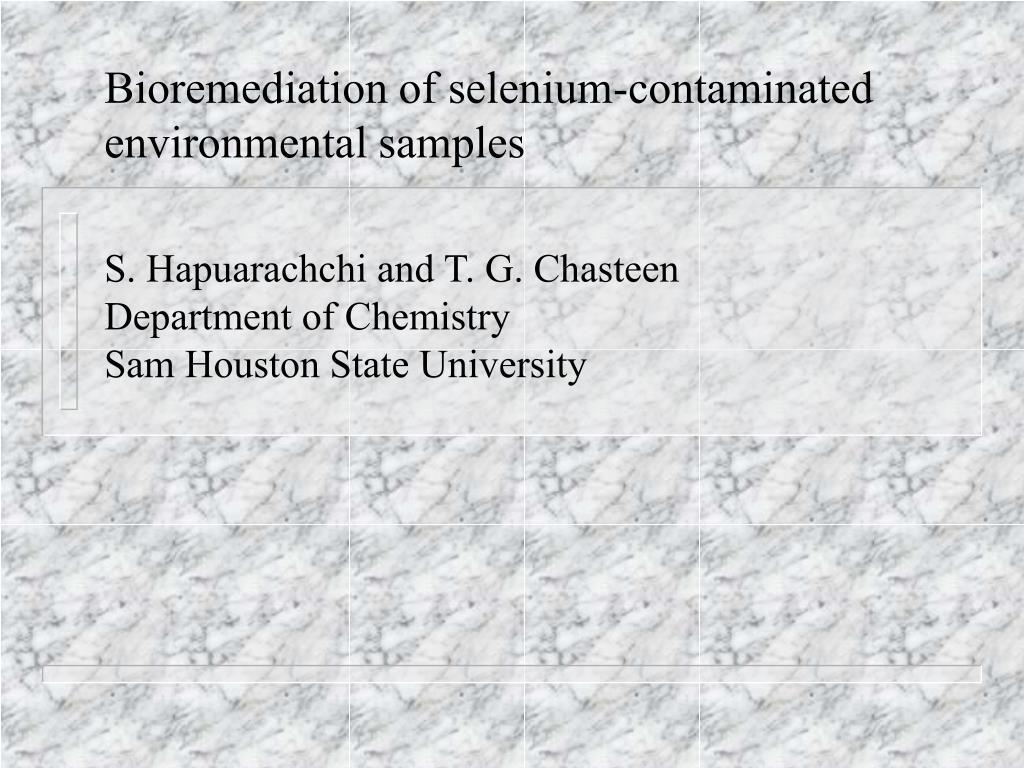 Bioremediation of selenium-contaminated