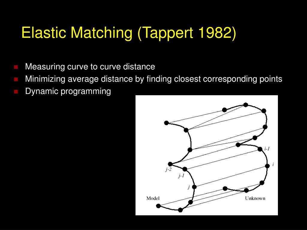 Elastic Matching (Tappert 1982)