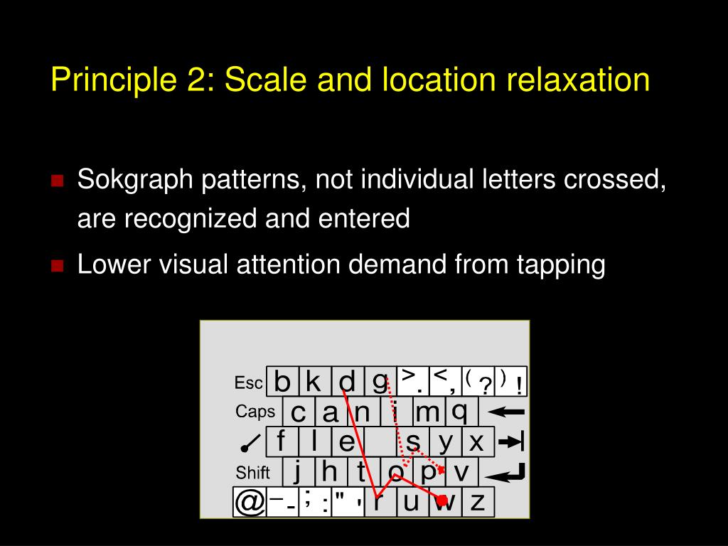 Principle 2: Scale and location relaxation