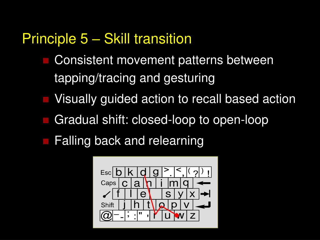 Principle 5 – Skill transition