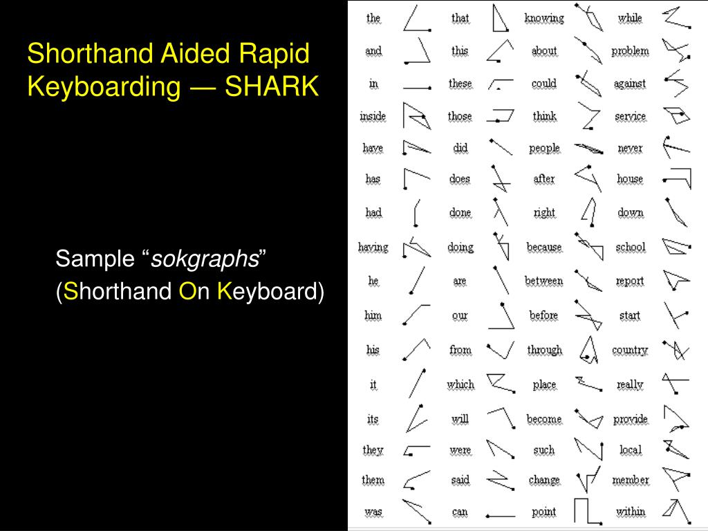 Shorthand Aided Rapid