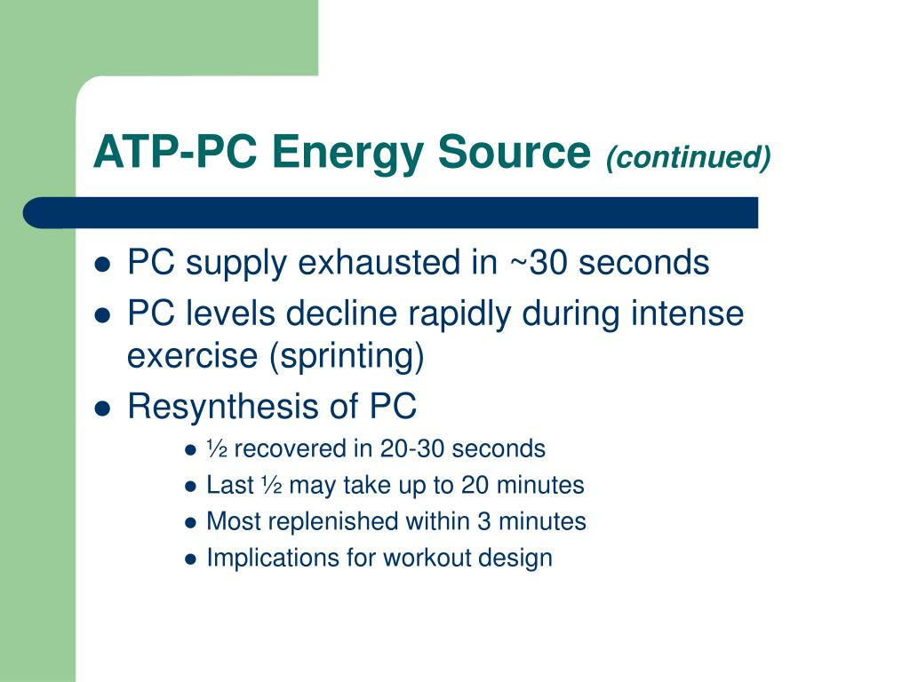 ATP-PC Energy Source