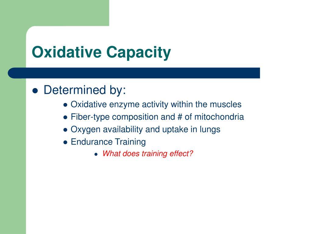 Oxidative Capacity