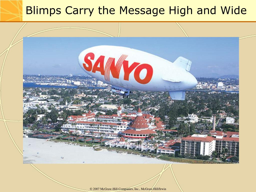 Blimps Carry the Message High and Wide