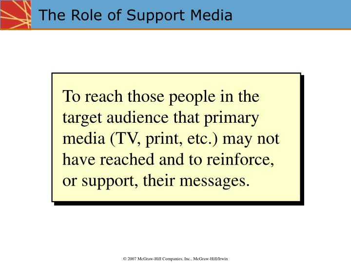 The role of support media