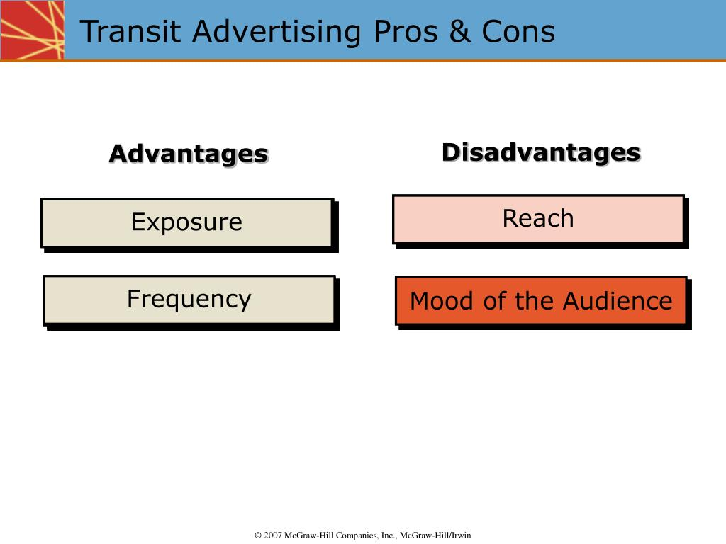Transit Advertising Pros & Cons