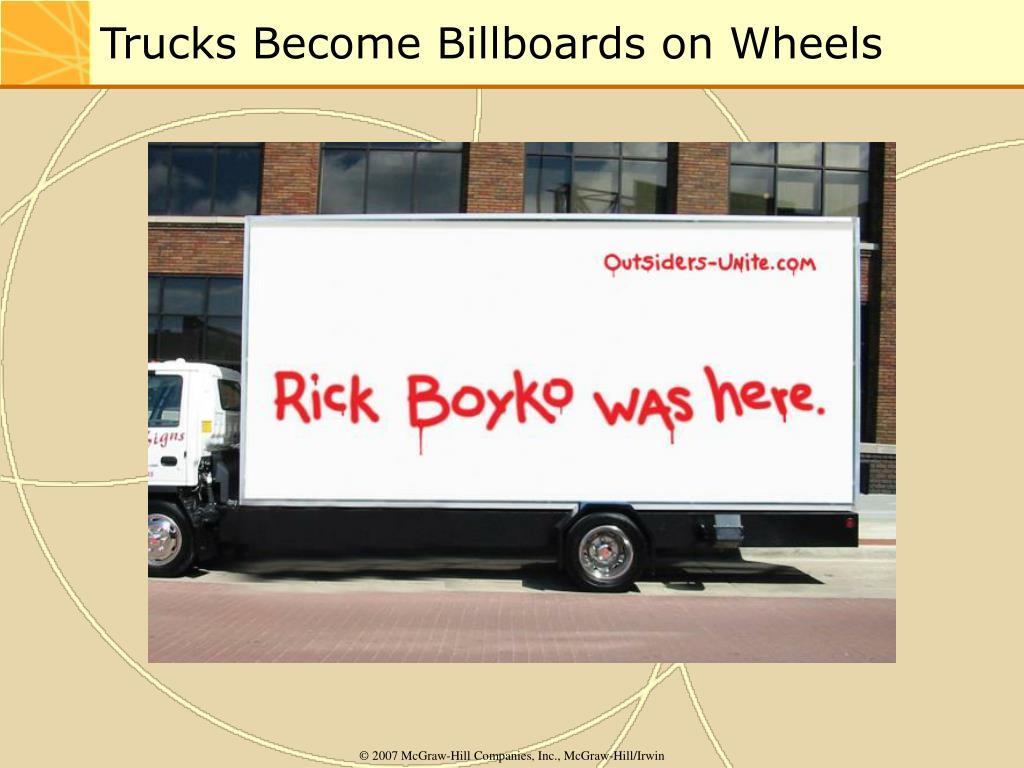 Trucks Become Billboards on Wheels