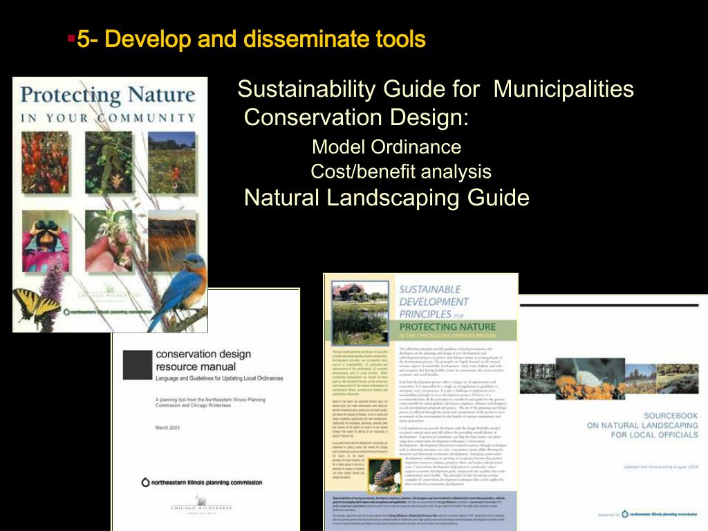 5- Develop and disseminate tools