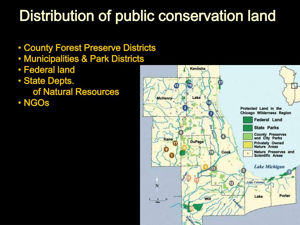 Distribution of public conservation land