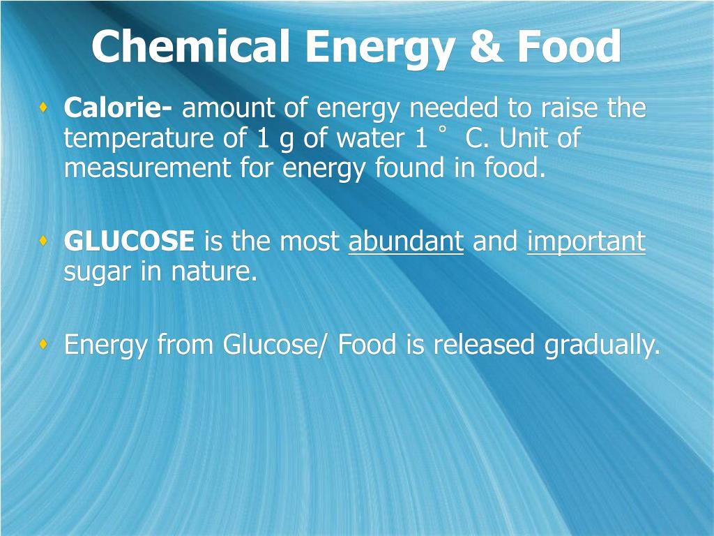 Chemical Energy & Food