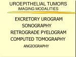 uroepithelial tumors imaging modalities