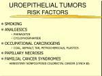 uroepithelial tumors risk factors