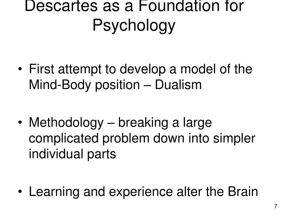 Descartes as a Foundation for Psychology