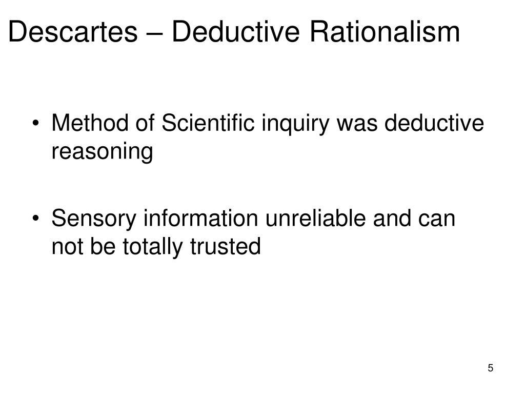 Descartes – Deductive Rationalism