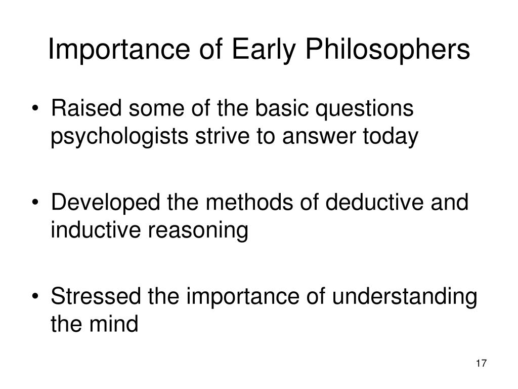 Importance of Early Philosophers