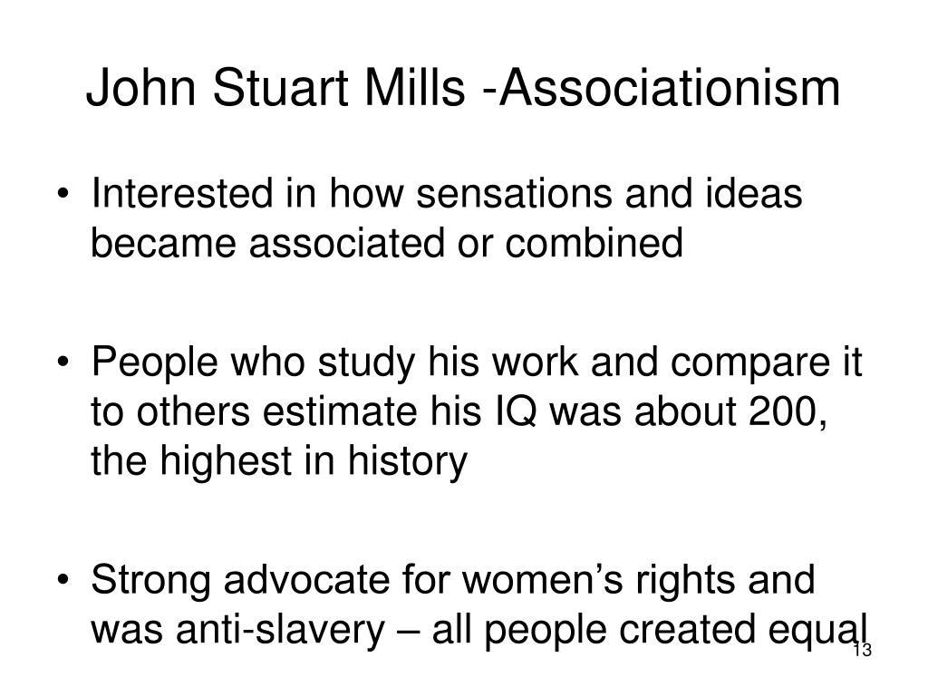 John Stuart Mills -Associationism