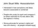 john stuart mills associationism