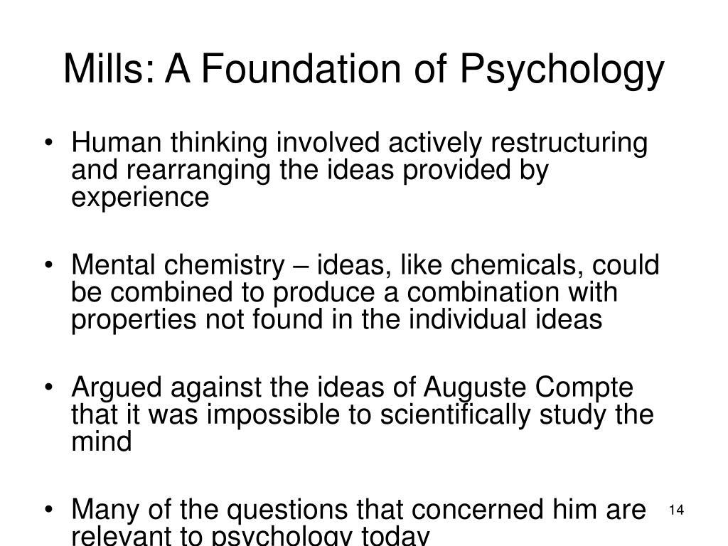 Mills: A Foundation of Psychology