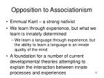 opposition to associationism