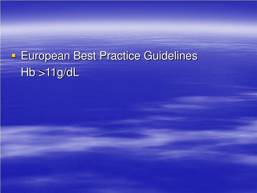 European Best Practice Guidelines