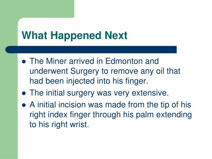 What Happened Next