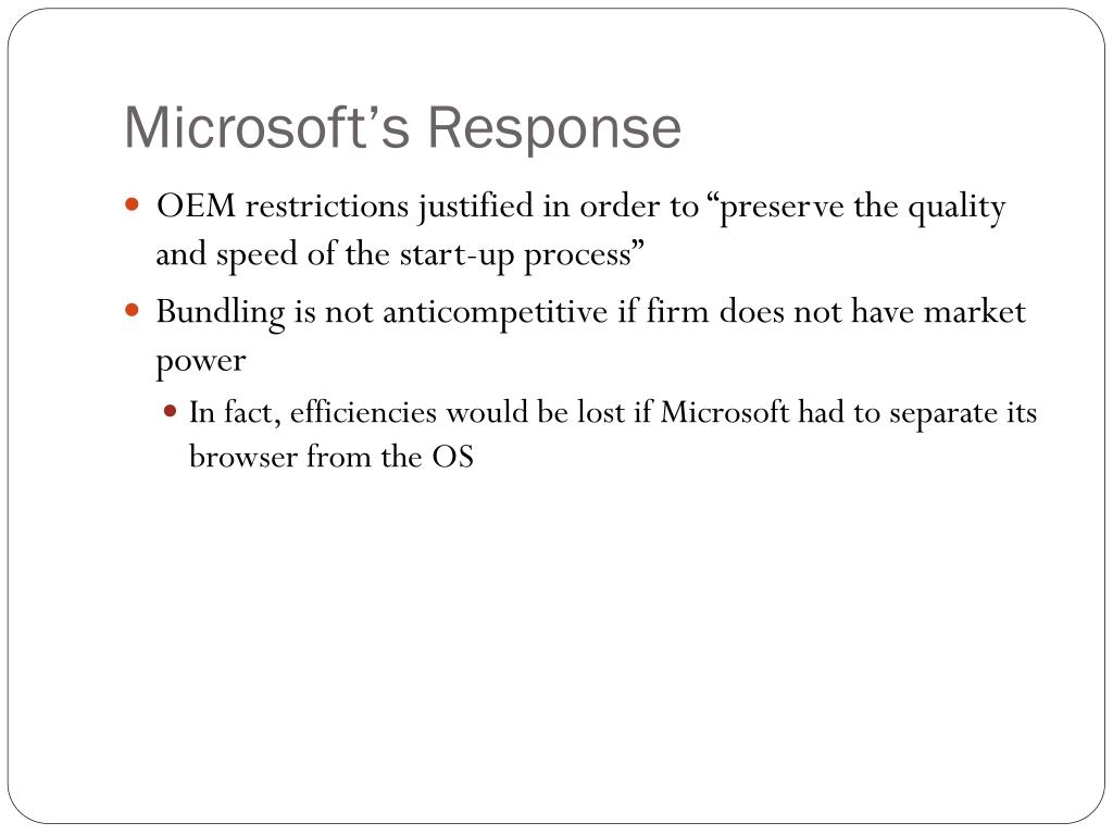 Microsoft's Response