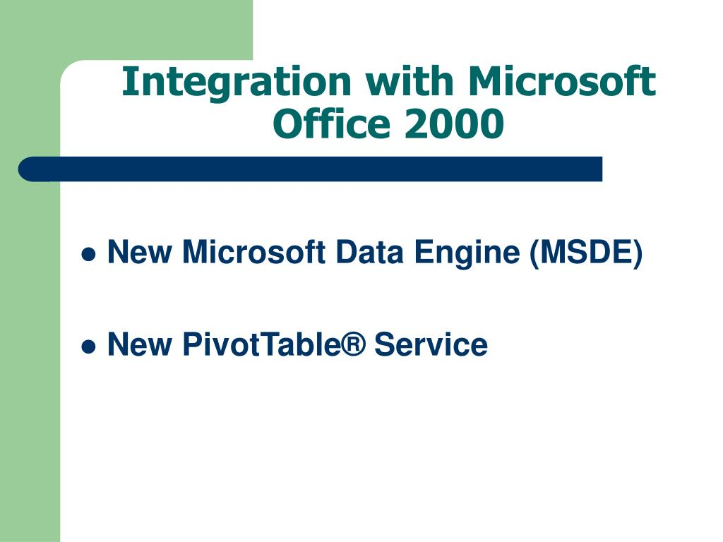 Integration with Microsoft