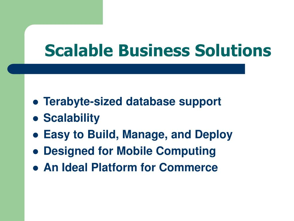 Scalable Business Solutions