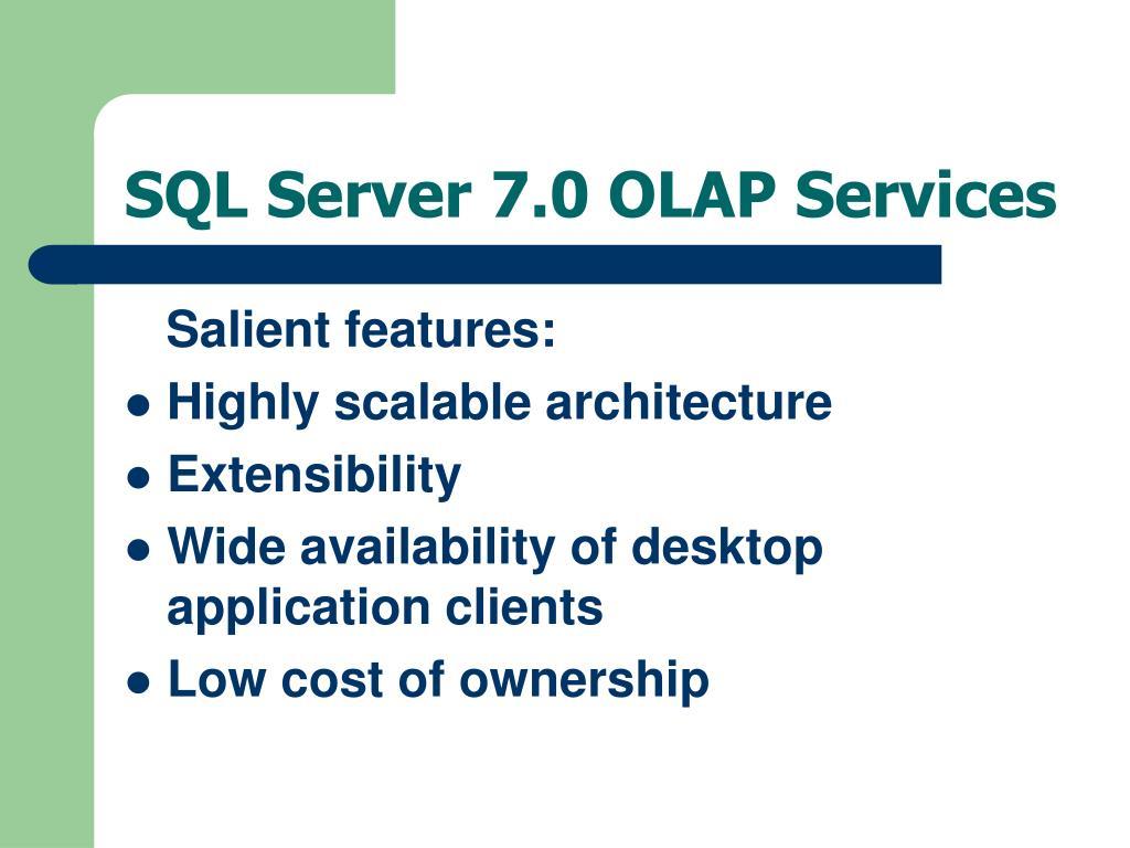 SQL Server 7.0 OLAP Services