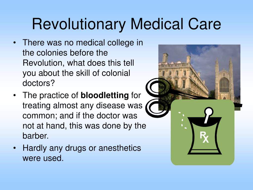 Revolutionary Medical Care
