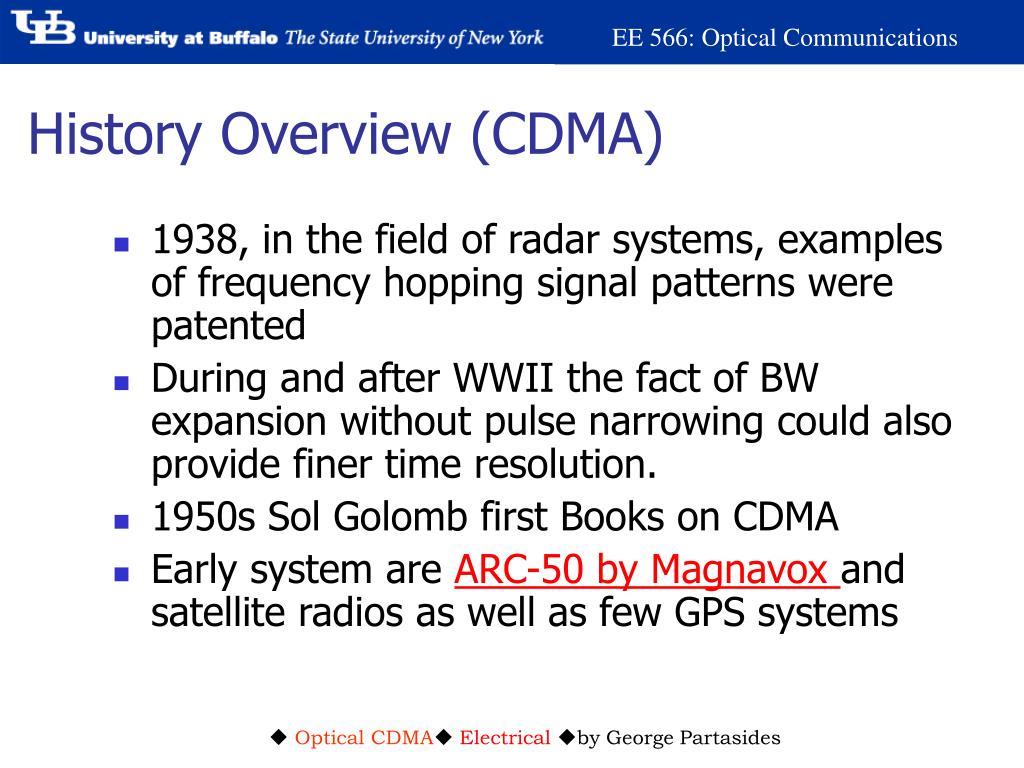 History Overview (CDMA)
