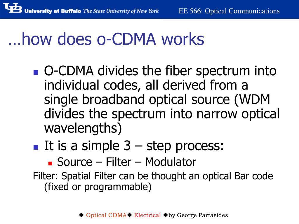 …how does o-CDMA works