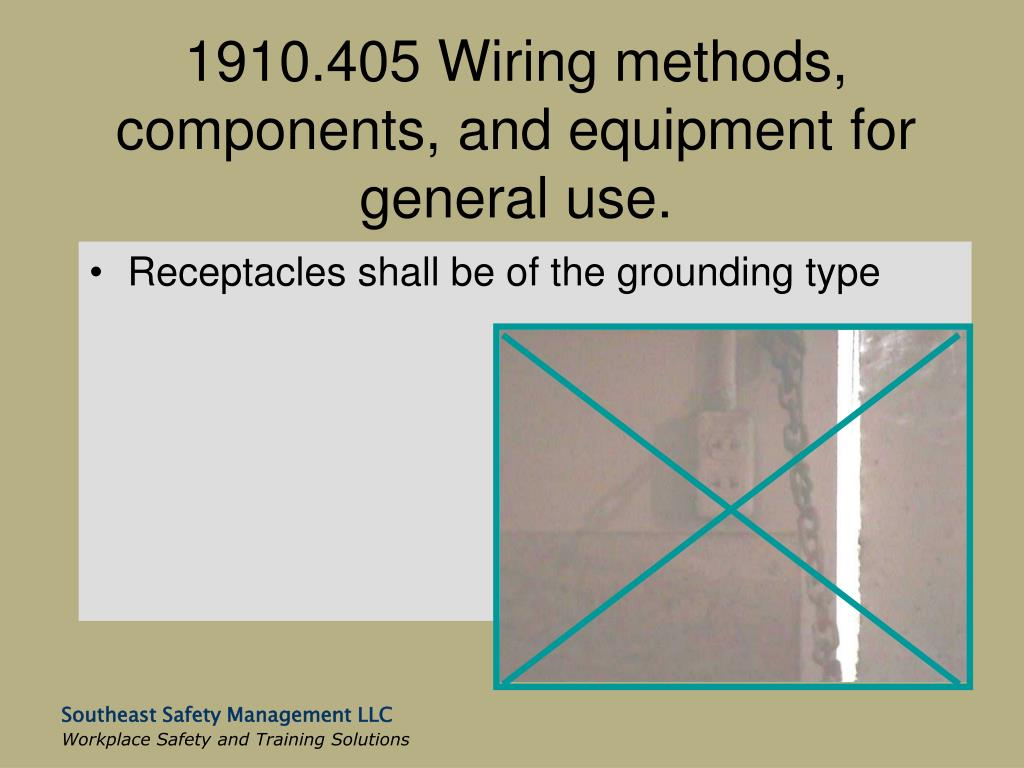 1910.405 Wiring methods, components, and equipment for general use.