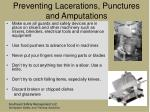 preventing lacerations punctures and amputations8
