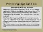 preventing slips and falls51