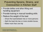 preventing sprains strains and overexertion in kitchen staff80