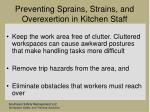 preventing sprains strains and overexertion in kitchen staff81