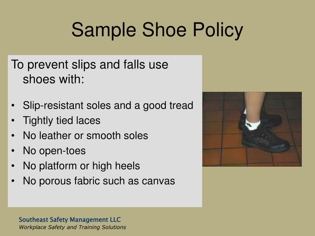 Sample Shoe Policy