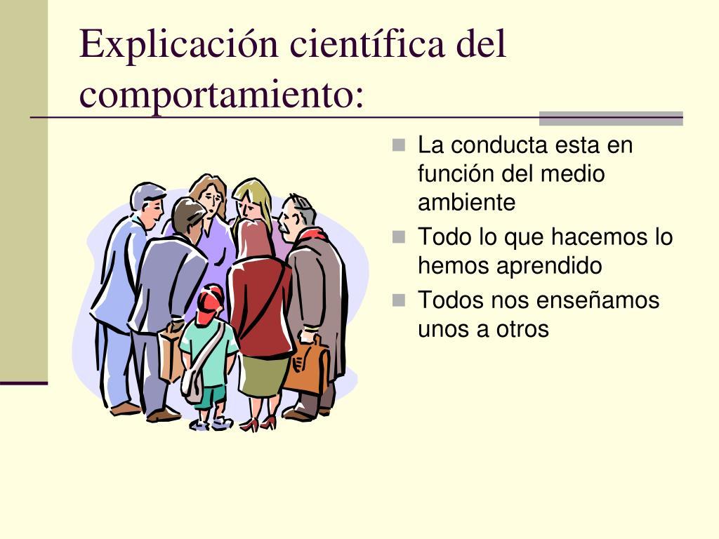 Explicación científica del comportamiento: