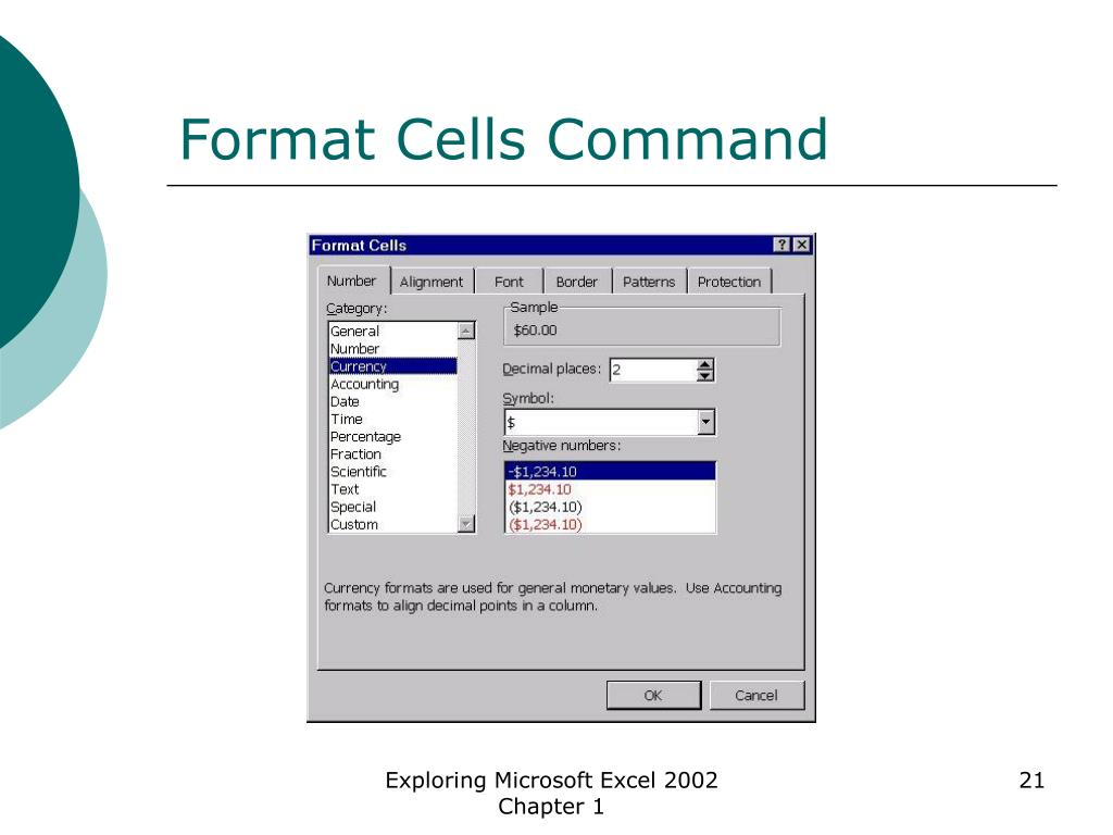Format Cells Command